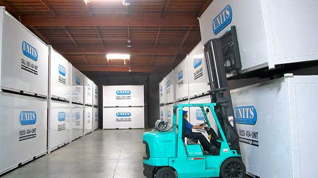 interior of the UNITS warehouse in Livermore